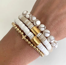 "Load image into Gallery viewer, ""The Landyn"" Heishi Bracelet with Large Barrel Bead"