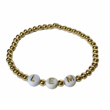 Load image into Gallery viewer, Gold Custom Initial Bracelet