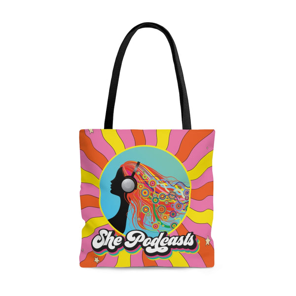 Sunshine Tote Bag - She Podcasts Shop - Podcaster Merchandise
