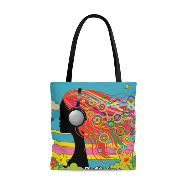 Lovely Day Tote Bag - She Podcasts Shop - Podcaster Merchandise