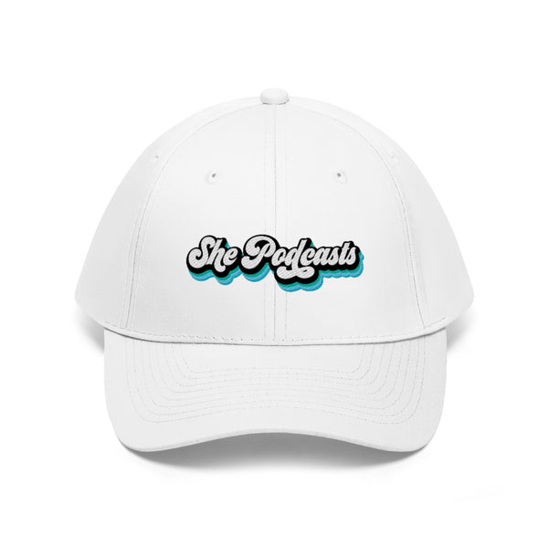 She Podcast Blue Logo - Unisex Twill Hat