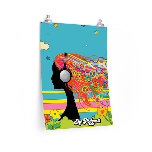 She Podcasts Retro Poster - Lovely Day - She Podcasts Shop - Podcaster Merchandise