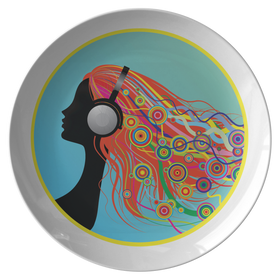 Eat Off Our Head Dinner Plate - She Podcasts Logo