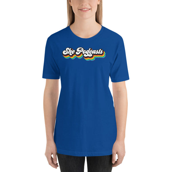 She Podcasts Logo Rainbow Short-Sleeve T-Shirt