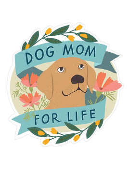 Geburtstagskarte und Sticker - Dog Mom for Life