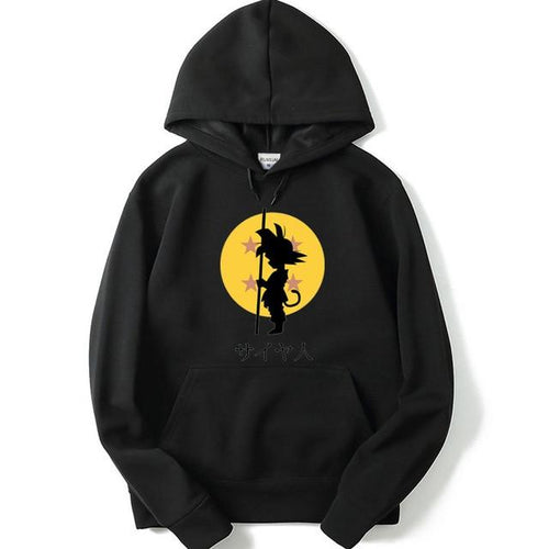 Sweat à capuche Pull Dragon Ball Z Son goku enfant Noir