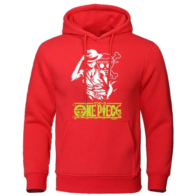 Sweat à capuche Pull One Piece Monkey D. Luffy Rouge
