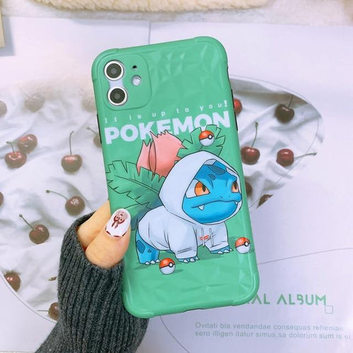 Silicone Case for iPhone | Ivysaur (Pokemon) - HappyLife Otaku