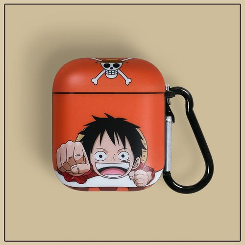 Coque pour Airpods 1 et 2 One Piece Monkey D. Luffy