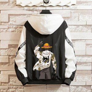 Streetwear Jacket | Monkey D. Luffy (Black) - HappyLife Otaku