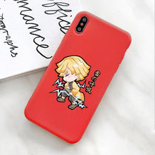 Charger l'image dans la galerie, Silicone Case for iPhone | Zenitsu Agatsuma (Demon Slayer) Charging - HappyLife Otaku
