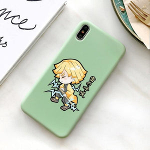 Silicone Case for iPhone | Zenitsu Agatsuma (Demon Slayer) Charging - HappyLife Otaku