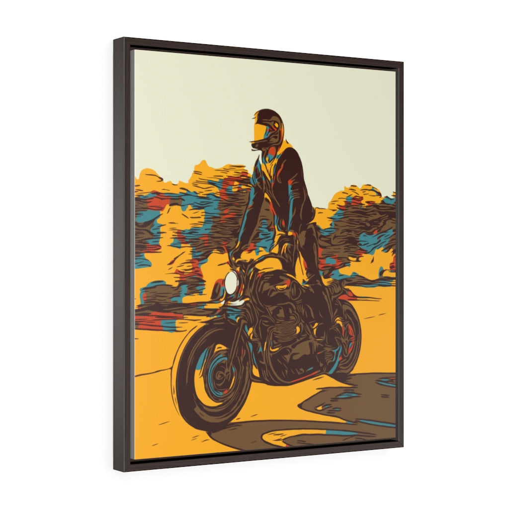 Ride Tall Framed Canvas Art