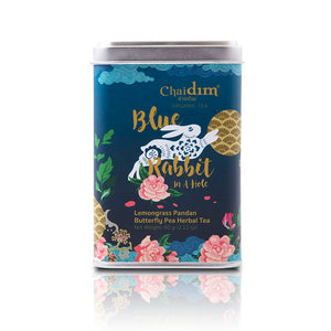 Chaidim Blue Rabbit in a Hole - Lemongrass Pandan Butterfly Pea Herbal Tea
