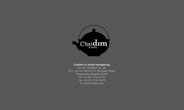 Chaidim Organic Tea is a brand managed by E.L.F.B. (Thailand) Co. Ltd.