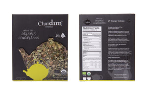 Chaidim Organic Lemongrass Herbal Tea