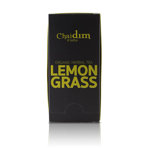 Chaidim Organic Lemongrass Herbal Tea - 16 Triangle Teabags
