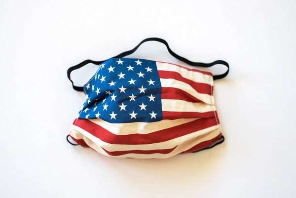 Pleated USA Flag - Maskcott