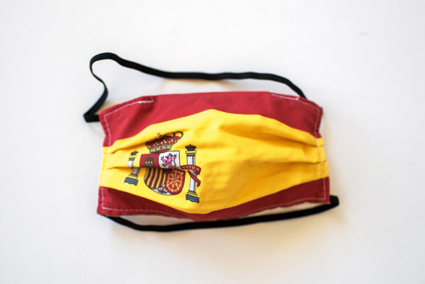 Pleated Spain Flag - Maskcott
