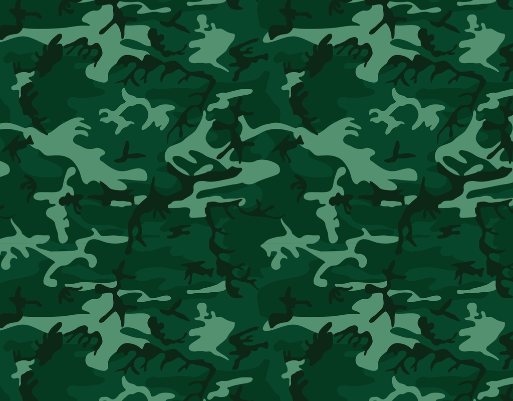 Pleated Camo Green - Maskcott