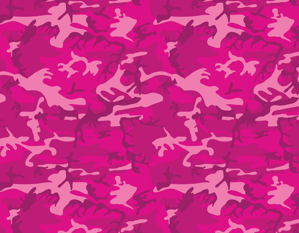 Pleated Camo Pink - Maskcott