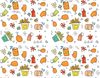 Pleated Food Pattern - Maskcott