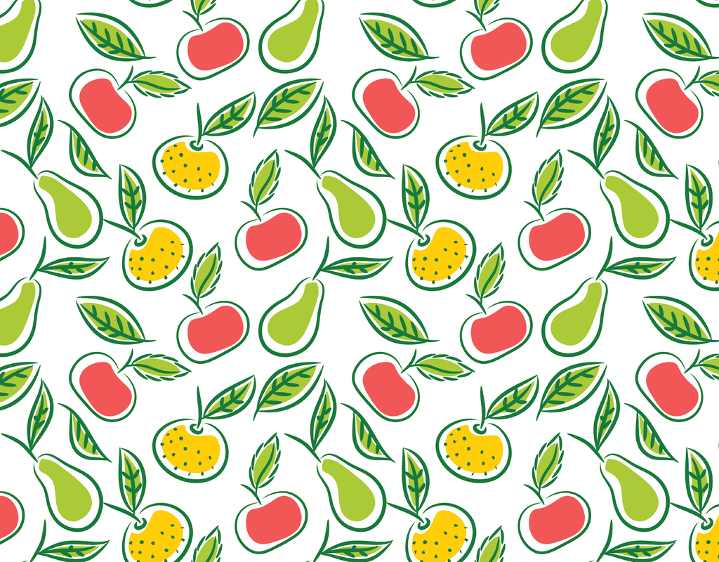 Pleated Fruits Pattern - Maskcott