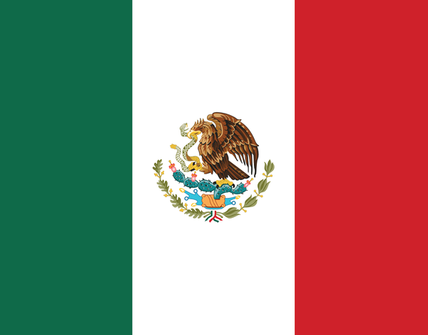 Pleated Mexico Flag - Maskcott