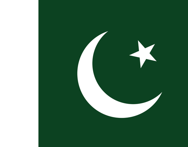 Pleated Pakistan Flag - Maskcott