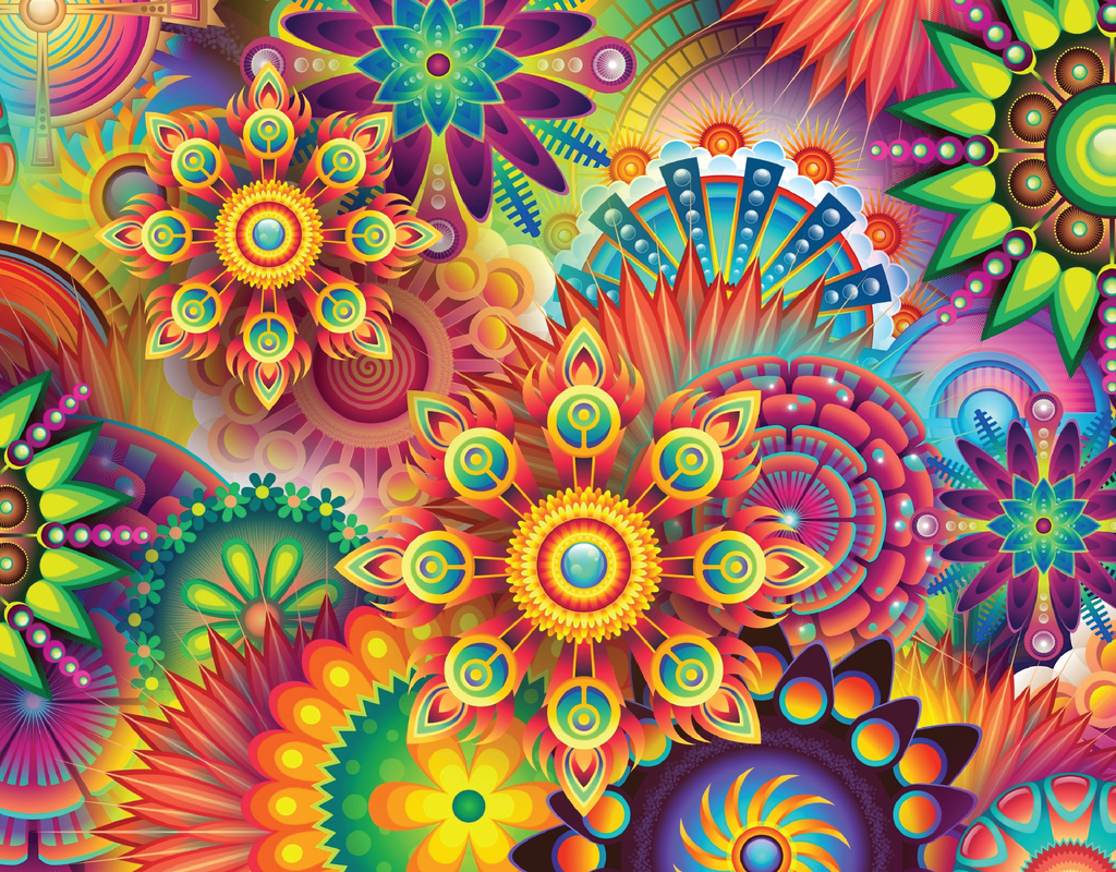 Pleated Psychedelic Pattern - Maskcott