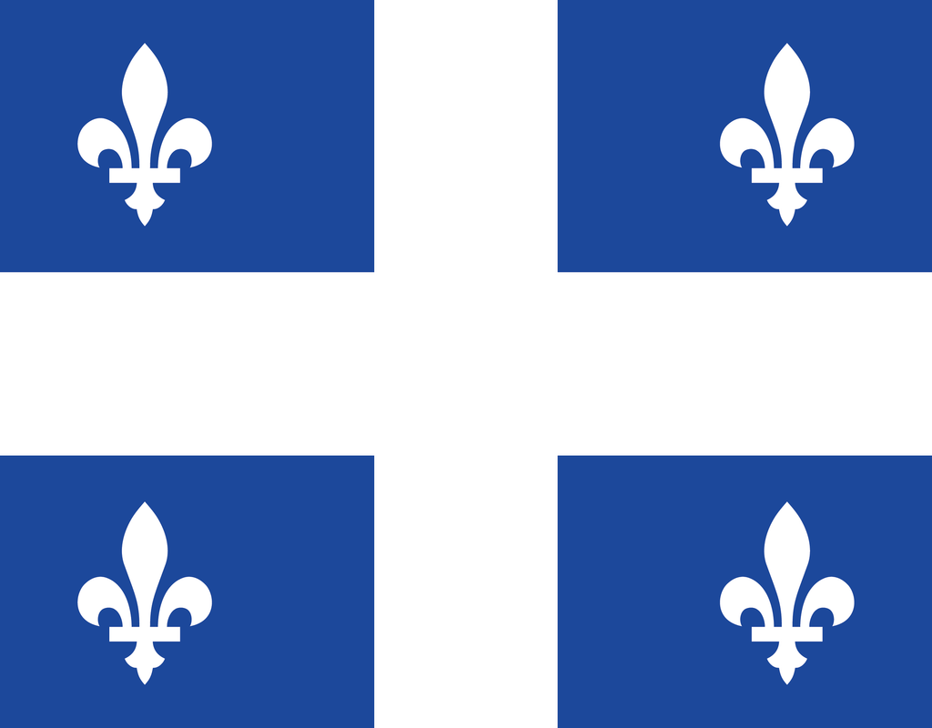 Pleated Quebec Flag - Maskcott