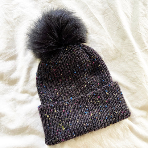 Classic Ribbed Hat by Purl Soho in Soot Sprite