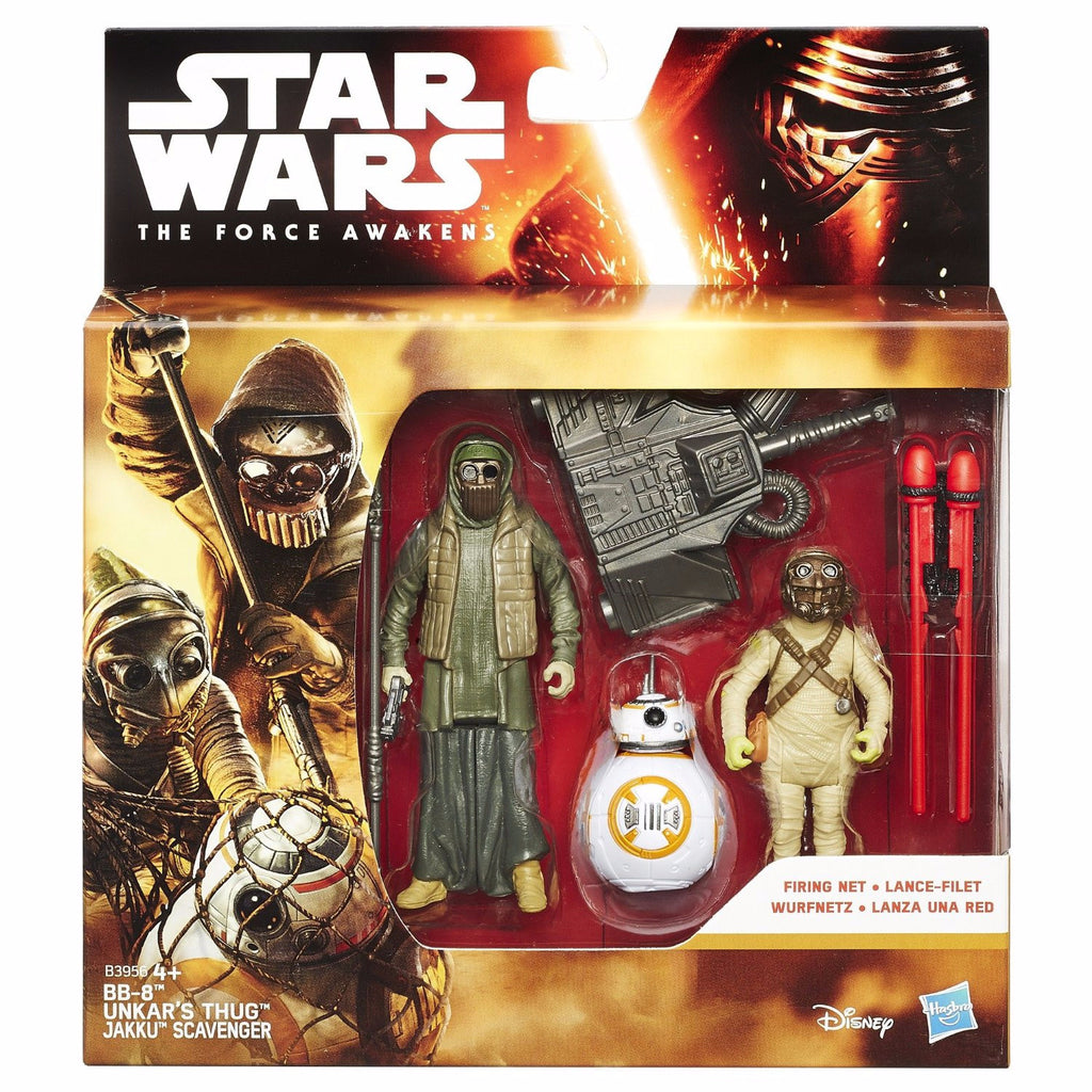 Star Wars The Force Awakens Triple Pack: BB-8, Unkar's Thug & Jakku Scavenger (Hasbro)