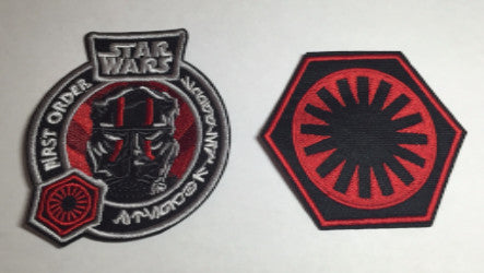 Star Wars Force Awakens First Order Patch set