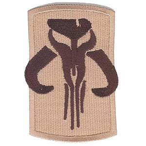 Star Wars Boba Fett Mandalorian Symbol Iron-On Patch