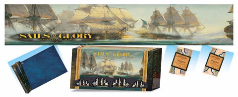 Sails of Glory Starter Set, Mat, Coastal Batteries and Coasts & Shoals Terrain Packs