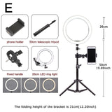 Ring Light 6.3''/10.2'' Camera Studio Video LED Beauty Ring Light Photography Dimmable Ring Lamp+Tripod for Selfie/Live Show