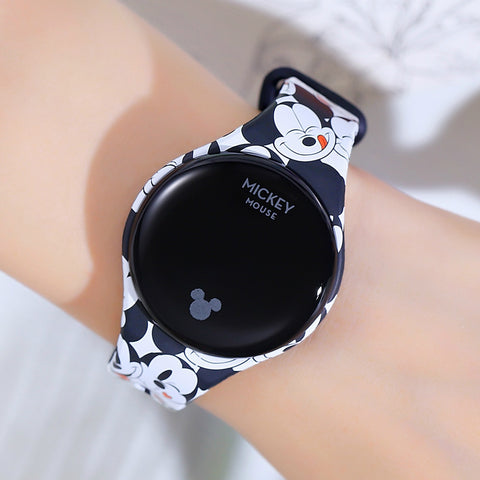 Relógio Digital Disney Mickey Mouse Spiderman Kids Watch Frozen Desenhos Animados Touch Screen Smart Sport