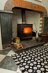 Solva Woollen Mill Rug in Black and cream