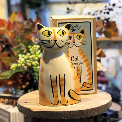 Cat Money Box by Hannah Turner