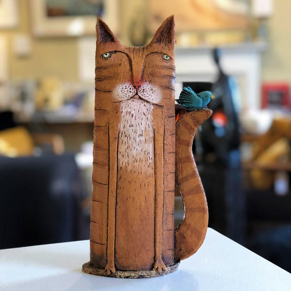 Large Ginger Cat and Friend by Sarah Saunders