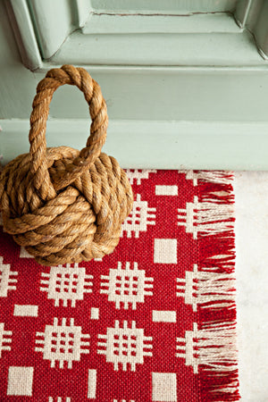 Solva Woollen Mill Rug in Red