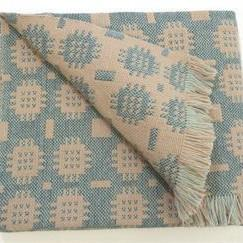 Solva Woollen Mill Rug in Pale Blue