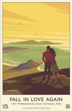 'Fall in Love Again' Print- Pembrokeshire Coast