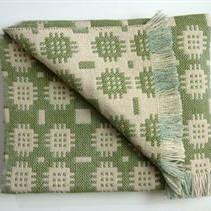 Solva Woollen Mill Rug in Pale Green
