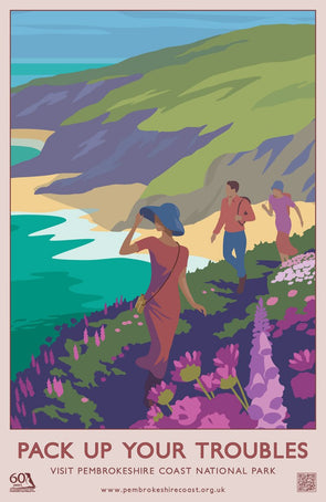 'Pack Up Your Troubles' Print- Pembrokeshire Coast