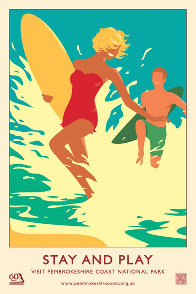 'Stay and Play' Print- Pembrokeshire Coast