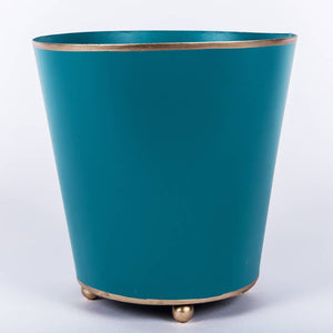 "Color Block Round Cachepot 6"" inch - Several Colors"