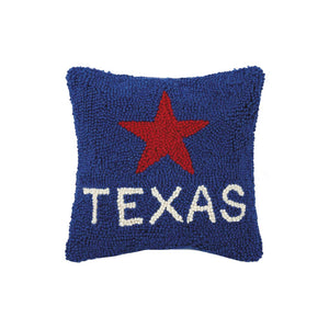 Texas Star Hook Pillow, 10 by 10 inches