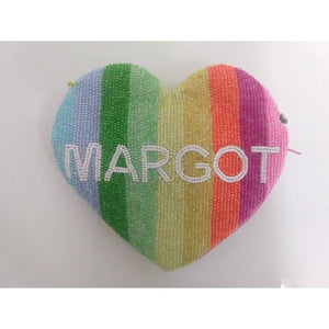 Personalized Rainbow Stripes Large Coin Purse (Four Week Delivery)